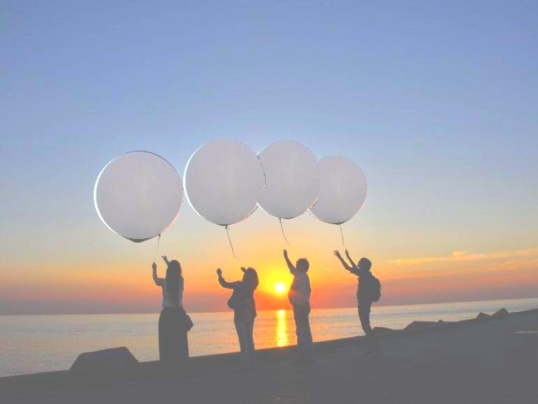 Helium-Ballonbestattung
